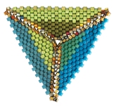 Peyote Triangle , Kate McKinnon, Contemporary Geometric Beadwork 2012, photo Kate McKinnon
