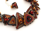 Jodie Marshall, beadwork, macrame, and handmade lampworked glass. Photo Kate McKinnon