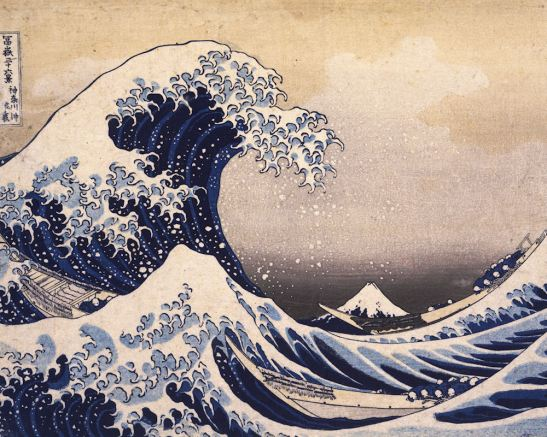 Katsushika Hokusai -  The Great Wave Off the Coast of Kanagawa - modifie1