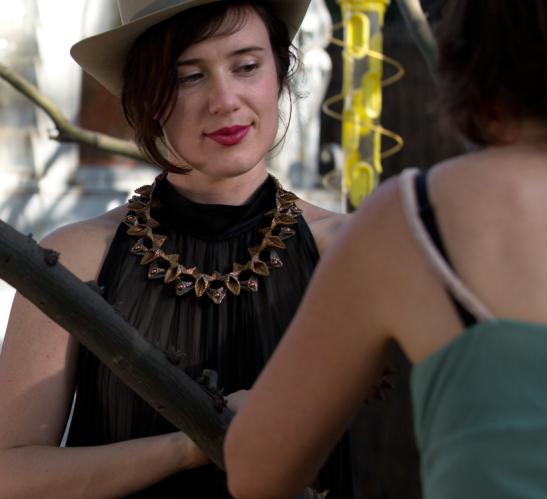 Becks wearing Marilou Porth by Ali Megan
