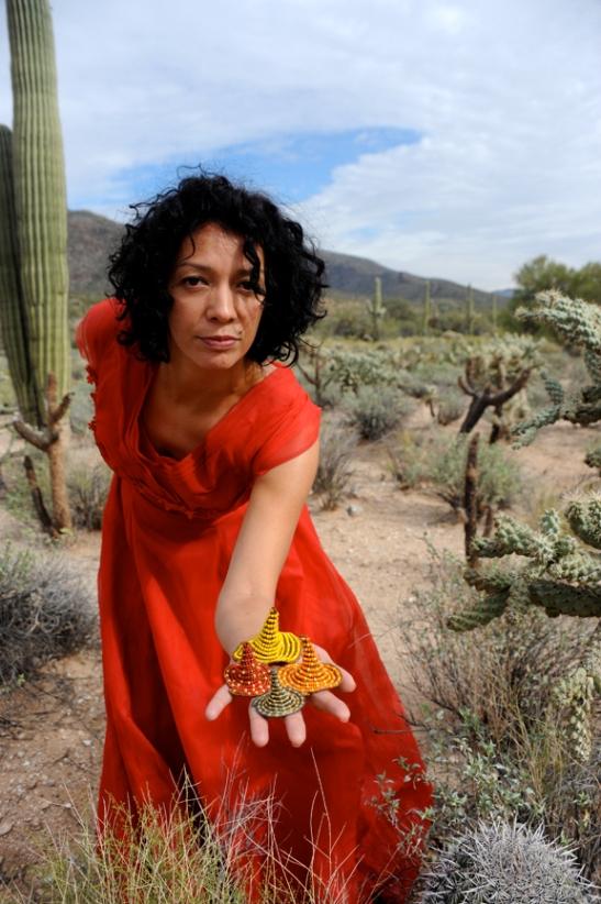 Gabriella van Diepen with Cones photo Kyle Cassidy