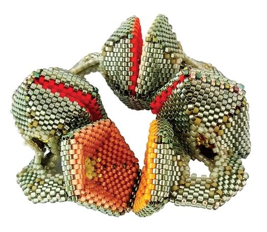 Hyperbolic pentagon shedding pods
