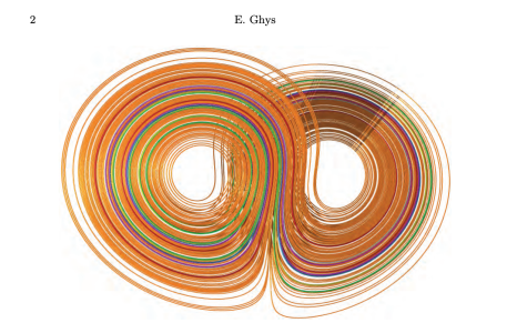 plot of Lorenz attractor from a paper by E. Ghys